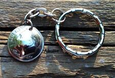 2012 DIME KEYCHAIN 5th ANNIVERSARY GIFT KEY RING LUCKY CHARM 3-D DOMED COIN
