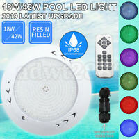 18W/42W 12V Resin Filled Swimming Pool LED Light RGB Remote Controller Retro Fit