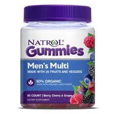 Natrol Gummies Men's Multi Berry, Cherry & Grape Dietary Supplement 90 Count