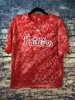 Philadelphia Phillies MLB T-Shirt Adult Large Tie Dye Free Shipping🔥look Rare🔥