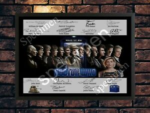 DOCTOR WHO 2019/20 SIGNED 14 DOCTORS - LIMITED EDITION AUTOGRAPH A4 PHOTO PRINT