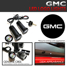 2Pc Lumenz 100944 WHITE LED Logo Projectors Ghost Shadow Lights for GMC