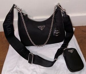 Prada Re-Edition 2005 Re-Nylon Crossbody Hobo Bag. 100% Authentic And Brand New.