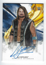 AJ STYLES 2019 TOPPS WWE UNDISPUTED ON CARD AUTO BLUE /25