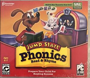 JumpStart Phonics Read and Rhyme Pc New Vista XP Letter Sound Word Recognition