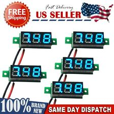 Mini voltmeter for electric vehicle battery voltage monitoring blue light 3 digi