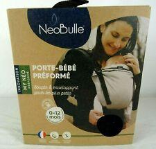 Porte bébé préformé NeoBulle - 0/12 mois - Model MYNEO Noir