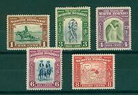 North Borneo 1939 KGVI range of pictorials 1c sg303 3c sg305 4c sg30 Mint Stamps