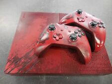 Xbox One S Gears of War 4 2TB Crimson Red Console w/ (Watch Dogs & Call of Duty)