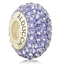 Alducchi Tanzanite Blue Crystal .925 Sterling Silver European Charm Bead