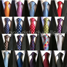 High Quality Mens Wedding Silk Tie Dot Pattern JACQUARD WOVEN Necktie