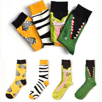Happy Socks High Quality Combed Cotton Crocodile/Zebra Animals Funny Sock