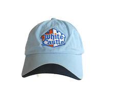 WHITE CASTLE Baseball Hat Cap BABY BLUE Adjustable  FREE SHIPPING