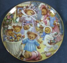 World Of Teddy Bears Egg-Citement Carol Lawson Franklin Mint Collector Plate