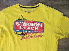 YELLOW STINSON BEACH MARIN COUNTY NAUTICA JEANS TREK TRAIL RUNNING T SHIRT-XL/L