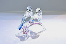 Swarovski Blue Tits Bird Couple Love Bird Wedding Gift 5004727 Brand New In Box