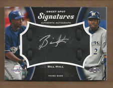 2008 Sweet Spot Sigs Black Glove Leather Silver Ink #BH Bill Hall /250 Auto