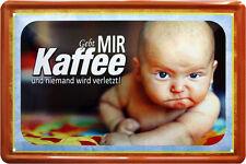 Escudo de chapa 20 x 30 dadme café + nadie sale lastimado Baby Fun bar escudo