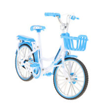 1:10 Blue Die-cast Metal Bm-X mini Bicycle with Basket Collectible Presents