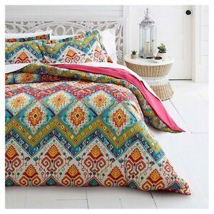 Azalea Skye Moroccan Nights Full / Queen Duvet Cover Set with Pillow Shams NEW