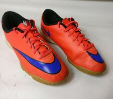 Nike JR MERCURIAL VORTEX II 651643 650 Trainers Shoes Orange Size UK 4 EU 36.5