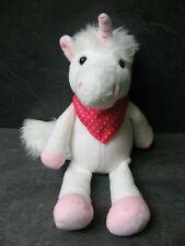 peluche doudou licorne blanche rose foulard étoile 27 cm kinder