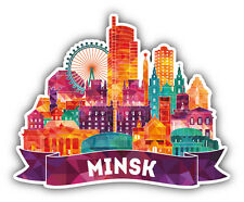 Minsk City Art View Belarus Car Bumper Sticker Decal 5'' x 4''