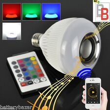 LED Bulb with Bluetooth Speaker Music Playing & Lighting with Remote Control