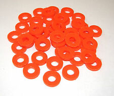 50 Tattoo Machine Orange Poly Pro Coil Core Washers Parts  Coil Washers 5/16""