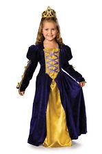 Girls REGAL QUEEN Princess Costume Purple Gold Gown Long Dress Child Medium 8 10