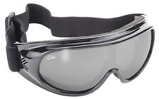 Womens PWC Boat Jet Ski Wakeboard FLOATING GOGGLES Black w/ Silver Mirror Lenses