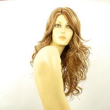Perruque femme longue blond foncé méché blond clair PRISCA F27613