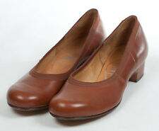 40s 'Brevitt' Original Tan Coloured Shoes with Grosgrain Edging