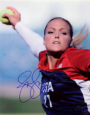 Jennie Finch Team Usa Softball #27 Signed 8x10 Photo Coa!