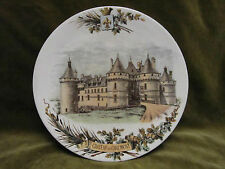 assiette à dessert faience Sarreguemines U&C décor chateau de Chaumont