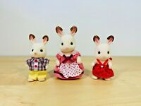 Sylvanian Families Chocolate Rabbit Family Teri Peppermint Coco Freya Set