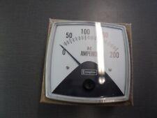 Crompton 016-02AA-LSRL Fiesta AC Ammeter 0-5 ACA=0-200 ACA