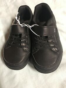 Surprize by Stride Rite® Toddler Boys Black Darrell Uniform Sneakers New