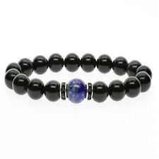 Natural Tibetan Beads Obsidian 10mm Charm jewelry Stones Lazuli Meditation Lapis