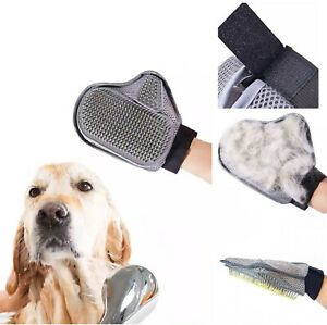 Pet Grooming Glove Hair Removal Mitts Quality Powerful Effective Brush Dog Cat