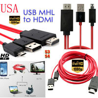 MHL Micro USB to HDMI 1080P HD TV Cable Adapter for Samsung Galaxy