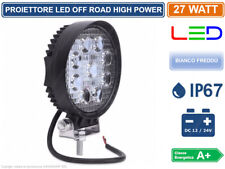 FARO LED OFF ROAD LUCE DI LAVORO SUPPLEMENTARE 12V 27W JEEP FUORISTRADA - IP67 -
