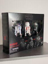 "Star Wars Black Series 6"" - Red Squadron Droids - R2-D2 - R5-D8 - R2-X2"