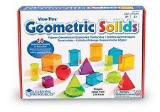 Recursos de aprendizaje Ver-Thru coloridas formas geométricas
