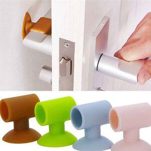 1pc Silicone Door Handle Crash Pad Wall Protectors Self Adhesive Bumper