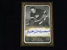 2008-09 Upper Deck Masterpieces Brushstrokes Bill Dineen Auto Red Wings