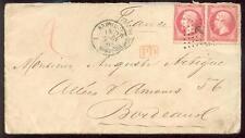 BRASILIEN 1868 BRESIL-BORDEAUX auf SCHIFFPOSTBRIEF nach FRANKREICH(E7169b