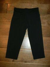 GAP KIDS GapFit girls black cropped capris leggings, S 6-7 yrs