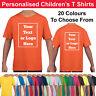 Personalised Childrens T Shirts Printed Kids Childs T-Shirt Tee Shirt Photo