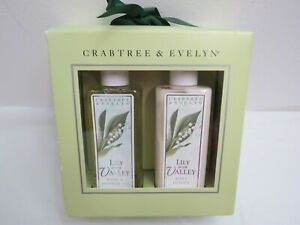 CRABTREE & EVELYN LILY OF THE VALLEY SHOWER GEL & BODY LOTION GIFT SET
